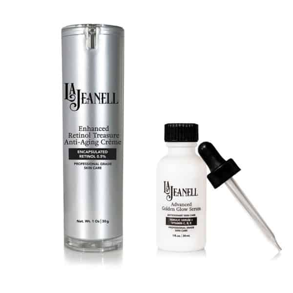 LaJeanell™ Skin Care Evening Routine Bottles