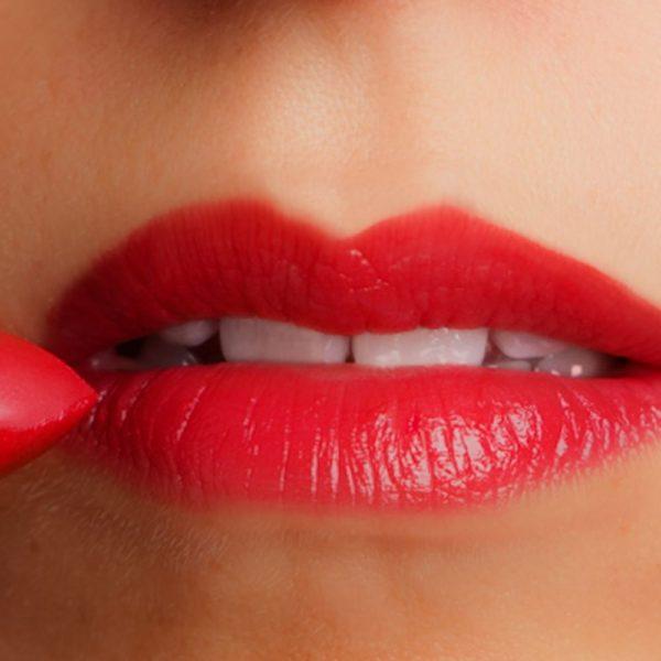 Lip, Cheek, Eye Shadow in Winter Holly Berries Shown on Lips